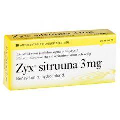 ZYX SITRUUNA 3 mg imeskelytabl 20 fol