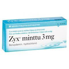 ZYX MINTTU 3 mg imeskelytabl 20 fol