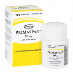 PRIMASPAN 50 mg enterotabl 100 kpl