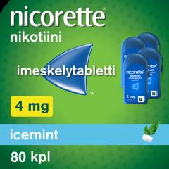 NICORETTE ICEMINT 4 mg imeskelytabl 80 kpl