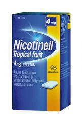 NICOTINELL TROPICAL FRUIT 4 mg lääkepurukumi 96 fol