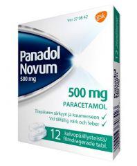 PANADOL NOVUM 500 mg tabl, kalvopääll 12 fol